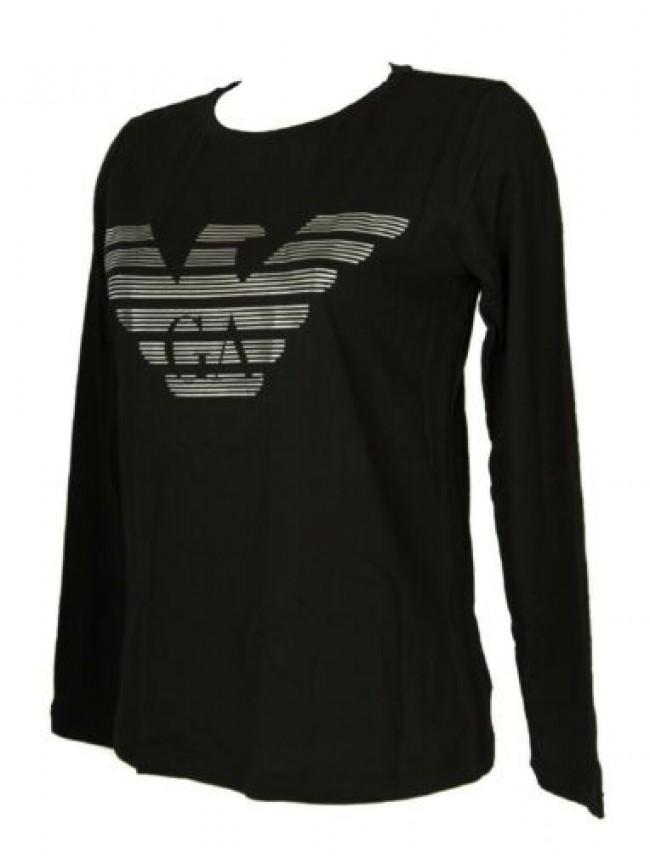 T-shirt donna manica lunga girocollo maglia in cotone bio organico EMPORIO ARMAN