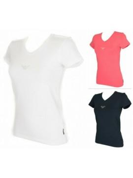 T-shirt donna scollo V manica corta EMPORIO ARMANI articolo 163321 7P263