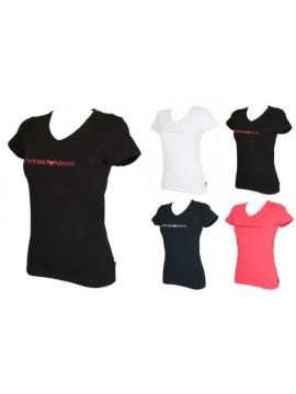 T-shirt donna scollo V manica corta EMPORIO ARMANI articolo 163321 7P317