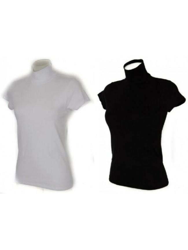 T-shirt lupetto donna manica corta caldo cotone RAGNO articolo 07452J