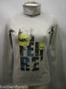 T-shirt maglia collo alto donna sweater GF FERRE 5F7759 T.XL c.827 grigio Italy