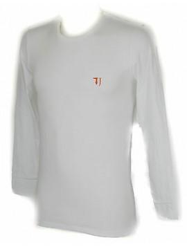T-shirt maglia giro uomo TRUSSARDI JEANS a. TR0029 taglia L col. 00010 BIANCO