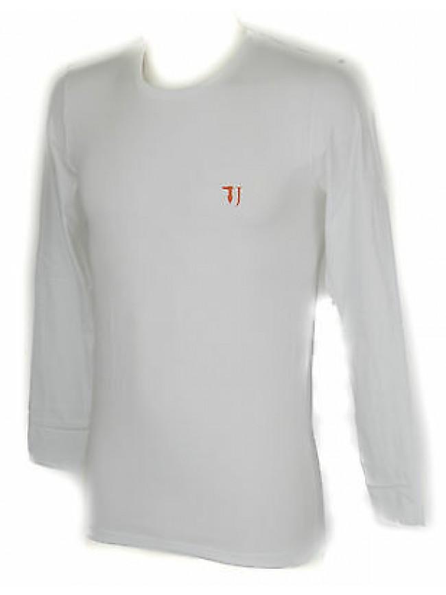 T-shirt maglia giro uomo TRUSSARDI JEANS a. TR0029 taglia S col. 00010 BIANCO