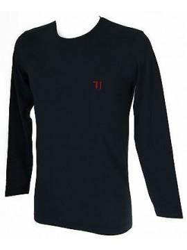 T-shirt maglia giro uomo TRUSSARDI JEANS art.TR0029 taglia L col.117 MARINO