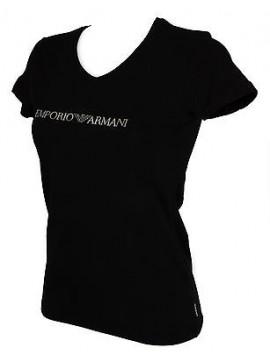 T-shirt maglietta V donna EMPORIO ARMANI 163321 6P263 taglia XL col. 00020 NERO