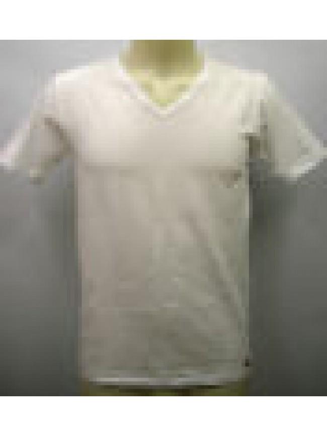 T-shirt maglietta V uomo KONTAKT RAGNO SPORT 063578 taglia 4 colore 010K BIANCO