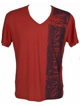 T-shirt maglietta V uomo TRUSSARDI JEANS art.TR0038 taglia L colore 085F COTTO