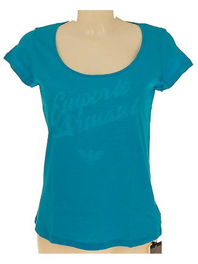 T-shirt maglietta donna EMPORIO ARMANI 262234 4P366 T.M c.00032 TURQAQUA
