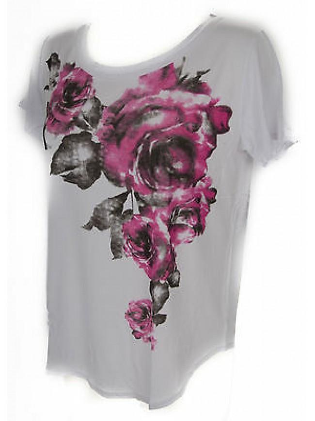 T-shirt maglietta donna RAGNO art.702577 taglia 4/M colore 983F FANT WHITE