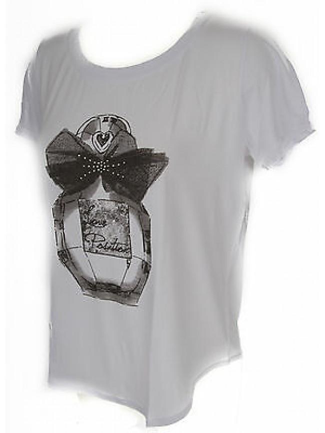 T-shirt maglietta donna RAGNO art.702577 taglia 6/XL colore 010F FANT BIANCO