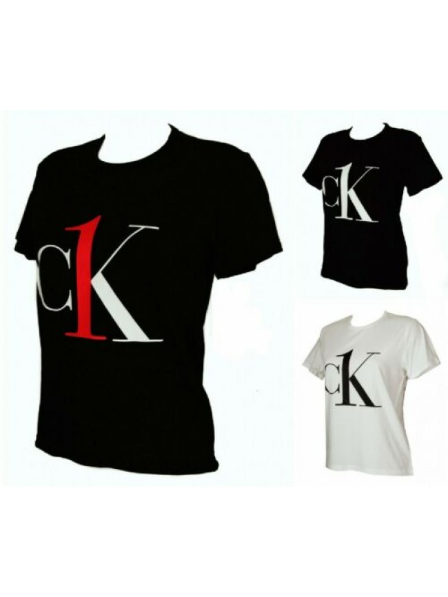 T-shirt maglietta donna manica corta girocollo cotone CK CALVIN KLEIN articolo Q