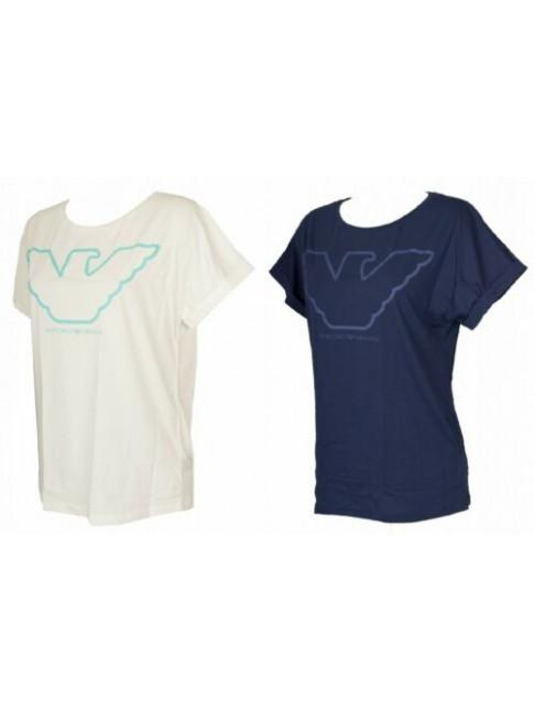 T-shirt maglietta donna manica corta girocollo cotone EMPORIO ARMANI articolo 16