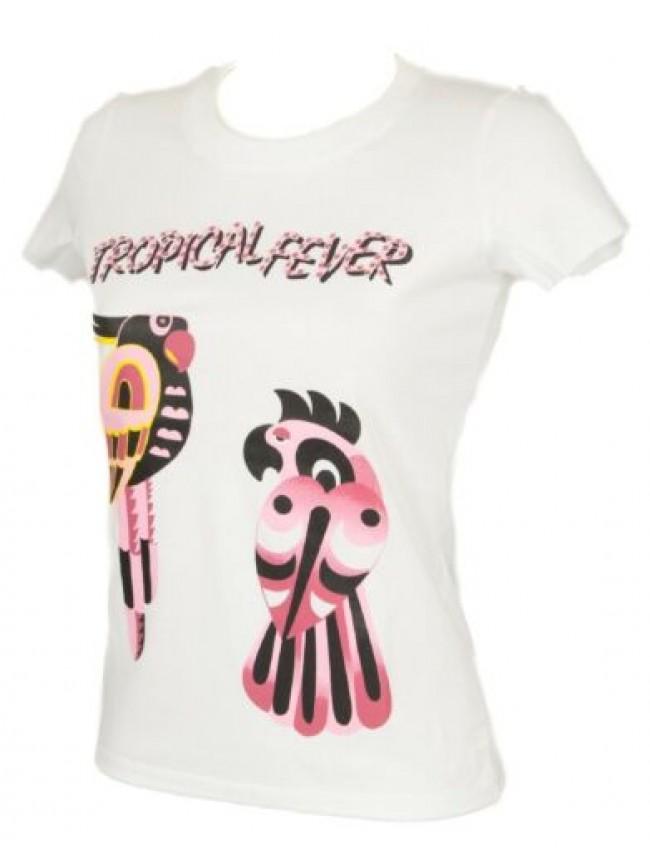 T-shirt maglietta donna manica corta girocollo cotone beachwear JUST CAVALLI art