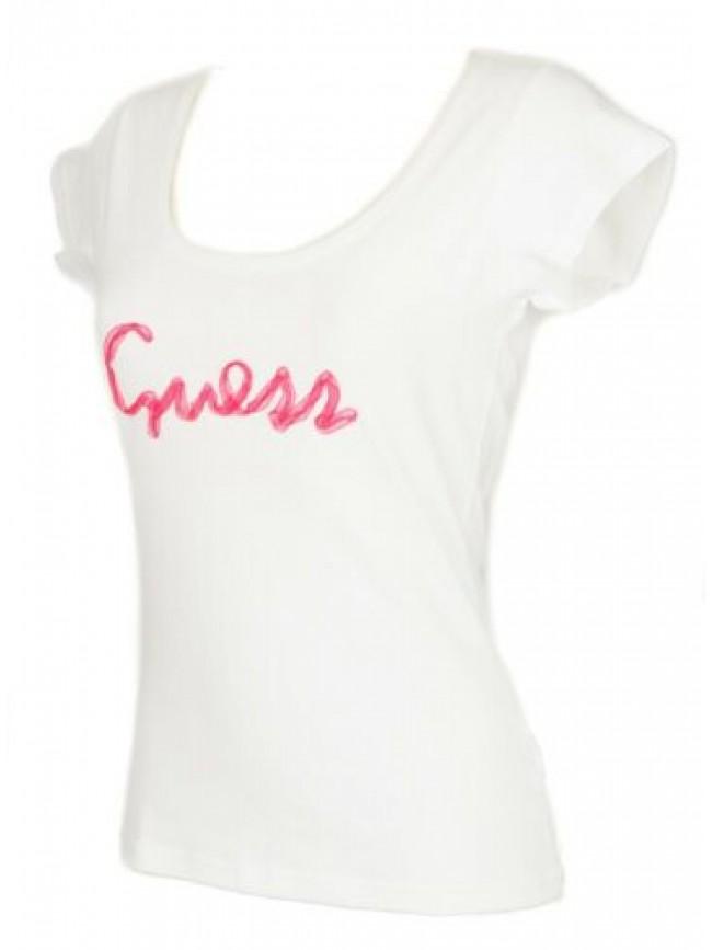 T-shirt maglietta donna manica corta girocollo cotone strech GUESS articolo UO2C