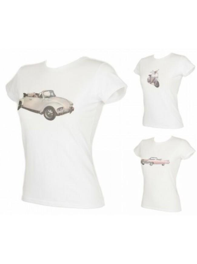 T-shirt maglietta donna manica corta girocollo cotone stretch RAGNO articolo 078