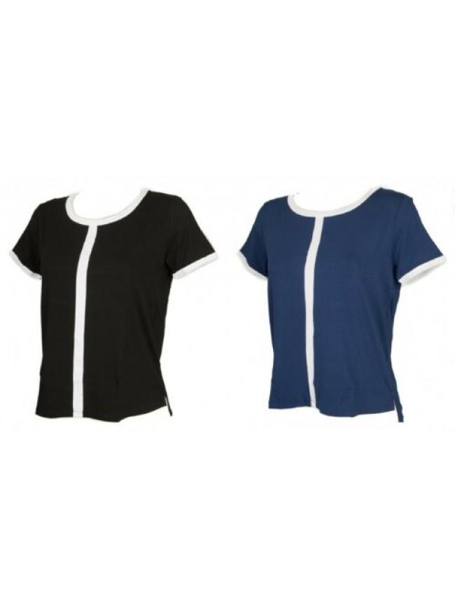 T-shirt maglietta donna manica corta girocollo viscosa RAGNO articolo 70902C