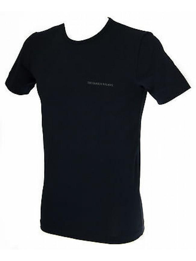 T-shirt maglietta giro uomo TRUSSARDI JEANS TR0079 taglia M c.139 NOTTE NIGHT