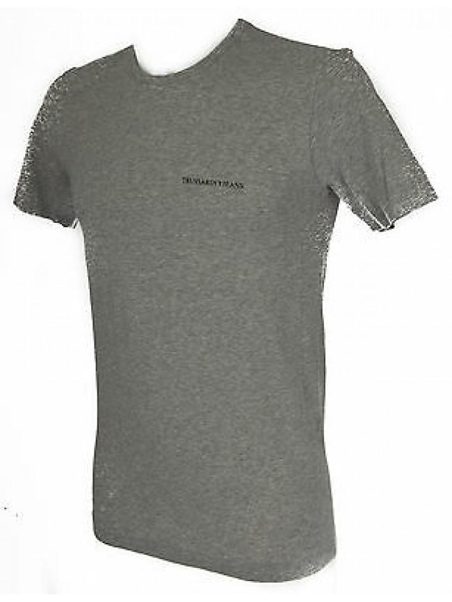 T-shirt maglietta giro uomo TRUSSARDI JEANS TR0079 taglia S c.135M GRIGIO GREY