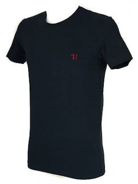 T-shirt maglietta giro uomo TRUSSARDI JEANS a. TR0027 taglia M col. 117 MARINO