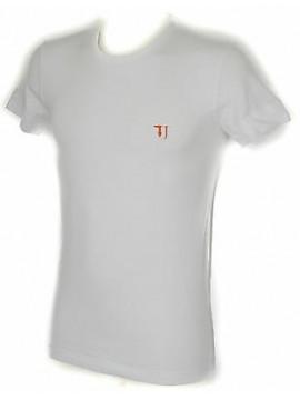 T-shirt maglietta giro uomo TRUSSARDI JEANS a. TR0027 taglia S col. 010 BIANCO