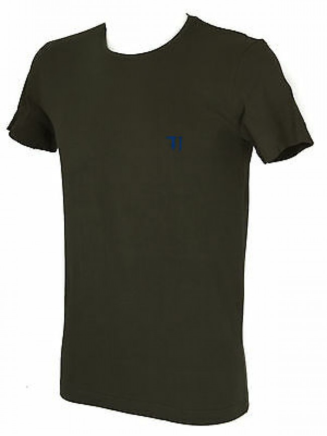 T-shirt maglietta giro uomo TRUSSARDI JEANS art. TR0027 taglia M col. 732 ARMY