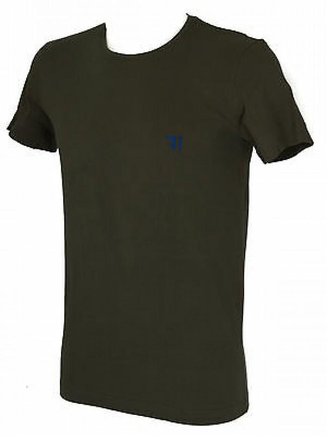 T-shirt maglietta giro uomo TRUSSARDI JEANS art. TR0027 taglia XL col. 732 ARMY