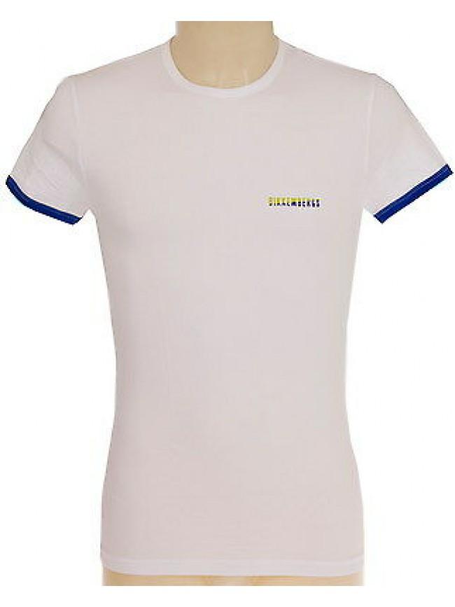 T-shirt maglietta girocollo uomo BIKKEMBERGS a.P796 T43 T.S c.1100 BIANCO WHITE