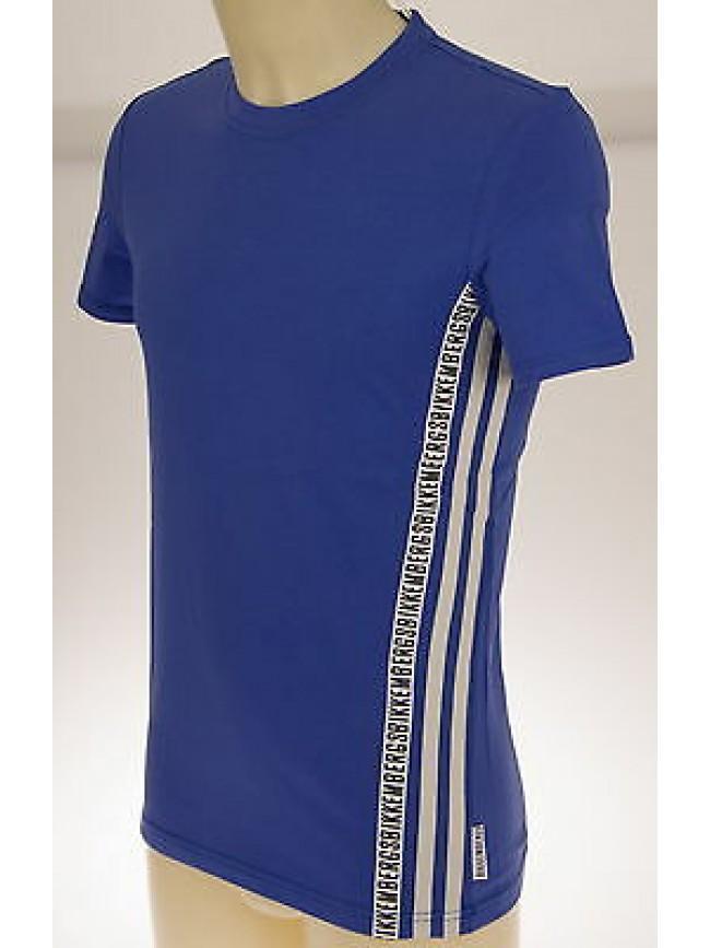 T-shirt maglietta girocollo uomo BIKKEMBERGS art.P261 T30 T.S col.3300 BLUETTE