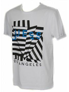 T-shirt maglietta girocollo uomo GUESS a. M61I18 taglia L col. A009 BIANCO WHITE