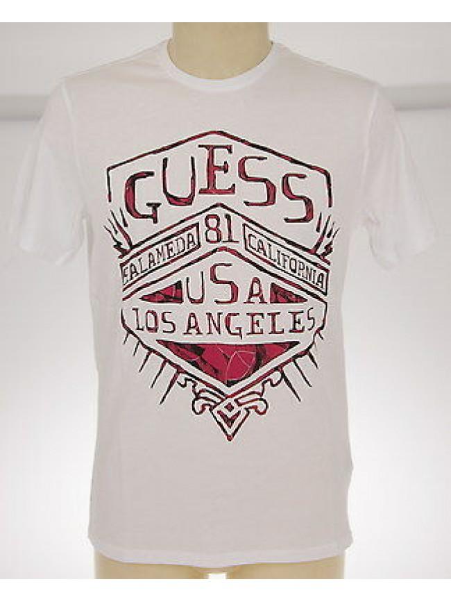 T-shirt maglietta girocollo uomo GUESS art.M42I02 JA900 T.L c.009 BIANCO cotone