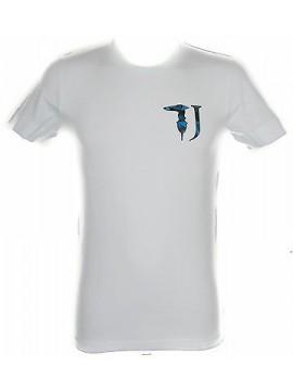 T-shirt maglietta uomo TRUSSARDI JEANS art.TR0017 taglia XXL colore 010 BIANCO