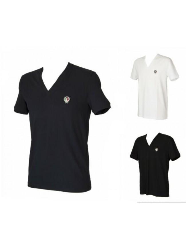 T-shirt maglietta uomo scollo V manica corta cotone elasticizzata DOLCE E GABBAN