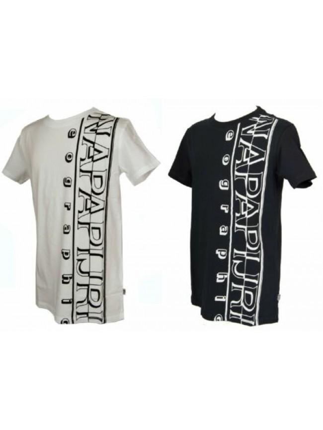 T-shirt manica corta girocollo cotone bimbo bambino ragazzo junior NAPAPIJRI art