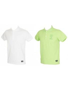 T-shirt polo uomo con colletto e bottoni manica corta DATCH articolo BU0059 TINT