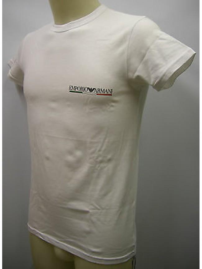 T-shirt uomo EMPORIO ARMANI 110853 2P510 taglia M colore 00010 BIANCO