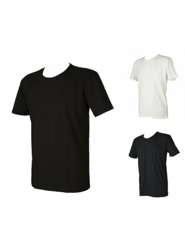 T-shirt uomo maglietta manica corta girocollo cotone elasticizzato PEROFIL artic