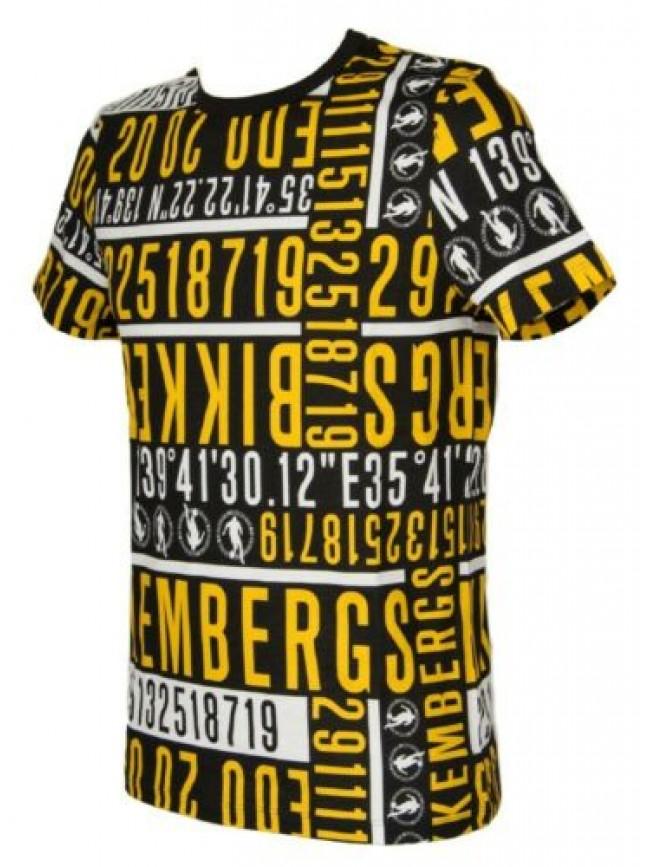 T-shirt uomo maglietta manica corta girocollo olympic animals BIKKEMBERGS artico