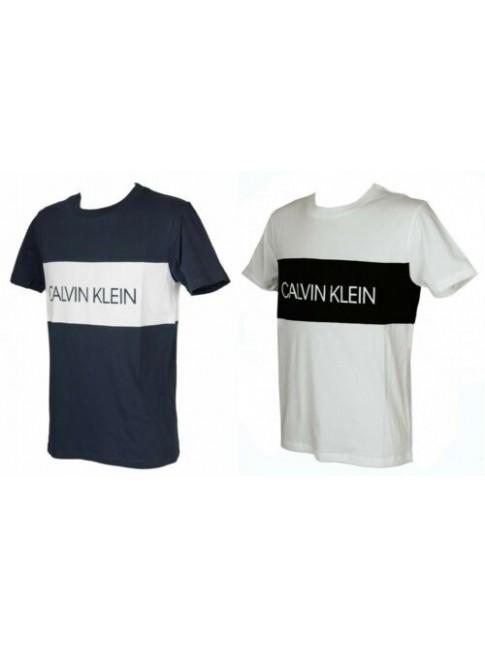 T-shirt uomo manica corta maglietta girocollo cotone CK CALVIN KLEIN articolo KM