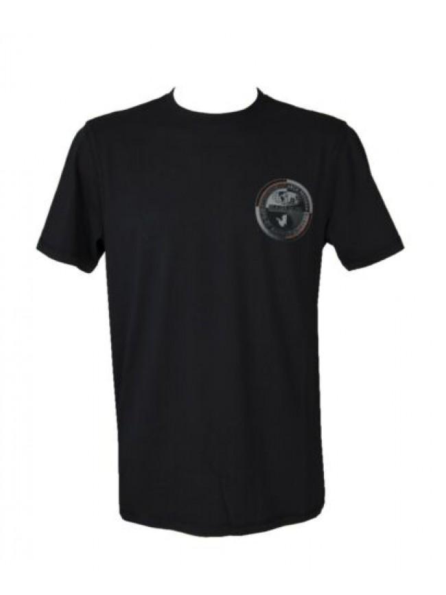 T-shirt uomo manica corta maglietta girocollo cotone con stampa NAPAPIJRI artico