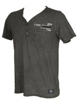 T-shirt uomo scollo V serafino manica corta DATCH articolo BU0061 COLD DYED