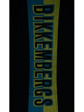 Telo mare beach towel BIKKEMBERGS a. B6A8005 cm 100x200 colore 0031 NERO BLACK
