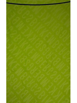 Telo mare beach towel BIKKEMBERGS art. B6A8009 cm 100x200 colore 6050 LIME