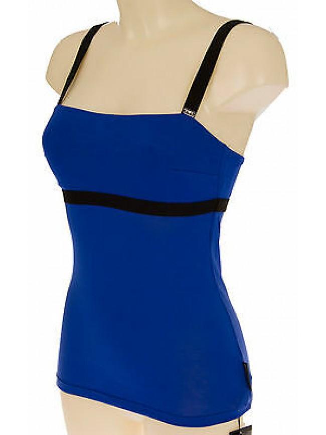 Top canotta donna swimwear EMPORIO ARMANI 262375 4P329 T.M 11433 ROYAL BLU