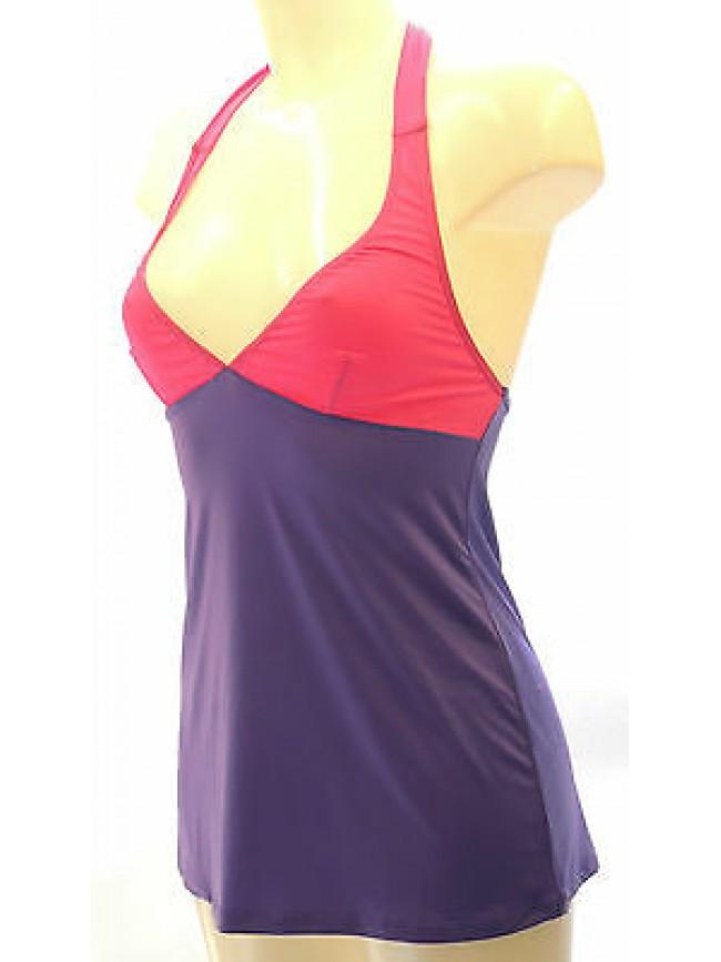 Top canotta maglia t-shirt donna EMPORIO ARMANI a.262215 3P360 T.S c.08973 viola