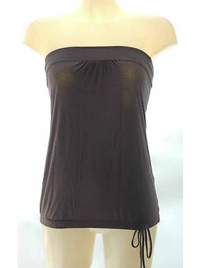 Top fascia maglietta t-shirt donna RAGNO art.07039D T.3/S col.381K daino