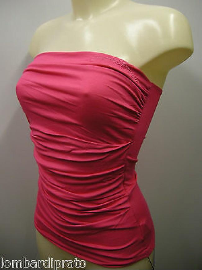 Top maglia t-shirt donna EMPORIO ARMANI 262269 3P364 T.XL c.08873 geranio fuxia