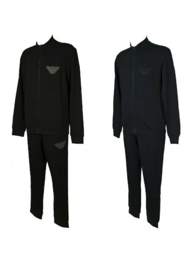 Tuta completo EMPORIO ARMANI  uomo felpa con zip + pantaloni loungewear invernal