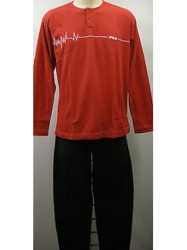 Tuta completo casa tempo libero uomo suit FILA a.57290 T.3/S c.008 rosso red