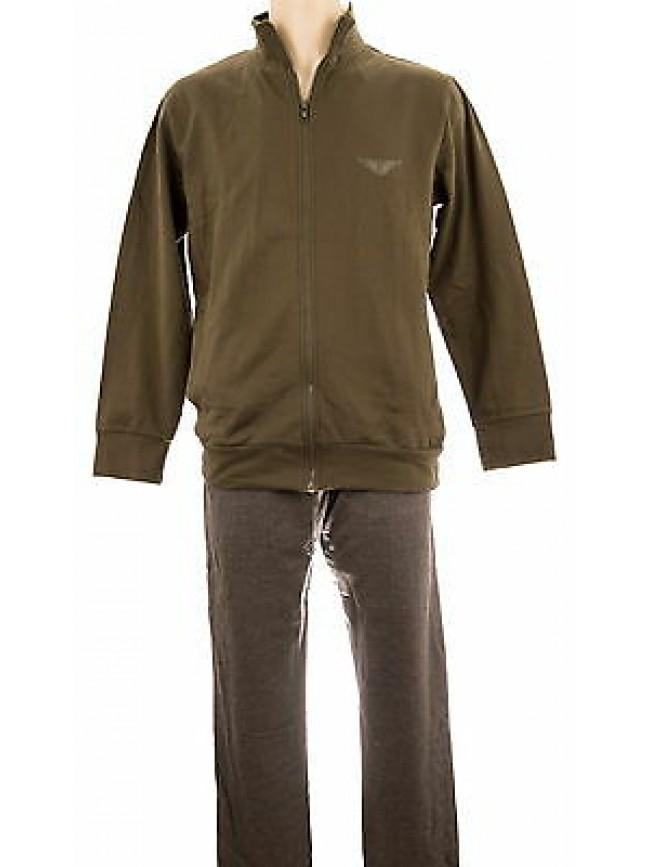 Tuta completo homewear uomo FORNITURE MILITARI art.N20312 T.M col.119F militare