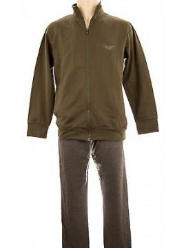 Tuta completo homewear uomo FORNITURE MILITARI art.N20312 T.S col.119F militare